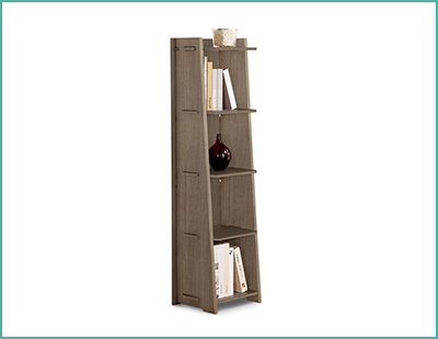 Our Grey Driftwood Tapered S Booking Storage Bookcase Makes It Ear That The 5 Shelves Are Almost Floating In Air Without Support Don T Be Fooled